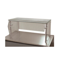 Advance Tabco Sleek Shields NSG-15-72 Single Tier Self Service Food Shield with Stainless Steel Shelf - 15 inch x 72 inch x 18 inch