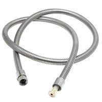 T&S B-0068-H2A 62 1/2 inch Stainless Steel Flex Hose and Polyurethane Liner