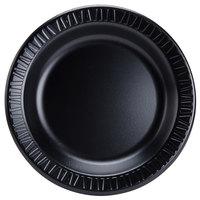 Dart 9PBQR Quiet Classic 9 inch Black Laminated Round Foam Plate - 500/Case