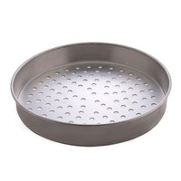 American Metalcraft T4011SP 11 inch Super Perforated Straight Sided Pizza Pan - Tin-Plated Steel