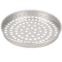 American Metalcraft SPT4011 11 inch x 1 inch Super Perforated Tin-Plated Steel Straight Sided Pizza Pan