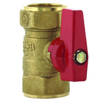 T&S AG-7F Ball Valve with 1 1/4 inch NPT Connections for Gas Fixtures