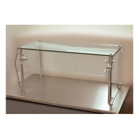 Advance Tabco Sleek Shield GSG-12-96 Single Tier Self Service Food Shield with Glass Top - 12 inch x 96 inch x 18 inch
