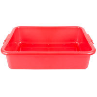 Vollrath 1511-C02 Perforated Drain Box - Traex Color-Mate Red 20 inch x 15 inch x 5 inch