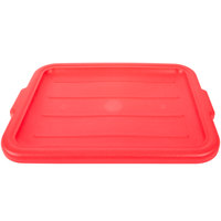 Vollrath 1522-C02 Recessed Food Storage Box Lid - Traex Color-Mate Red 20 inch x 15 inch