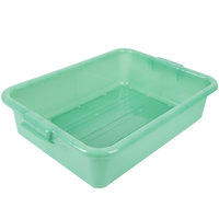Vollrath 1511-C19 Traex® Color-Mate Green Perforated Drain Box - 20 inch x 15 inch x 5 inch