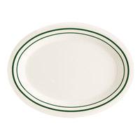 GET OP-120-EM Emerald 12 inch Oval Platter - 12/Case