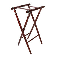 GET TSW-104 Mahogany 30 1/4 inch Turned Leg Tray Stand