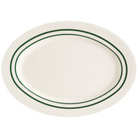 GET M-4020-EM Emerald 14 inch Oval Platter - 12/Case