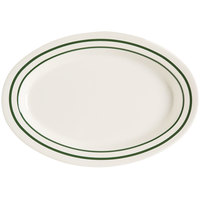 GET OP-215-EM Emerald 11 1/2 inch Oval Deep Platter - 24/Case