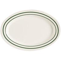 GET OP-215-EM Emerald 11 1/2 inch Oval Deep Platter - 24 / Case