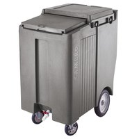 Cambro ICS200TB191 SlidingLid Granite Gray Portable Ice Bin - 200 lb. Capacity Tall Model