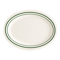 GET OP-950-EM Emerald 9 3/4 inch Oval Platter - 24/Case
