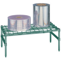 Metro HP32K3 30 inch x 18 inch x 14 1/2 inch Heavy Duty Metroseal 3 Dunnage Rack with Wire Mat - 1600 lb. Capacity