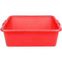 Vollrath 1517-C02 Perforated Drain Box - Traex Color-Mate Red 20 inch x 15 inch x 7 inch