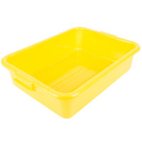 Vollrath 1511-C08 Traex® Color-Mate Yellow Perforated Drain Box - 20 inch x 15 inch x 5 inch