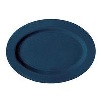 GET OP-950-TB Texas Blue 9 3/4 inch Oval Platter - 24/Case