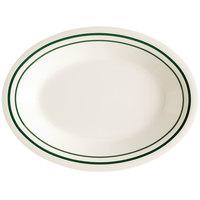 GET OP-220-EM Emerald 12 inch Oval Deep Platter - 24/Case