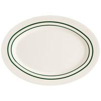 GET M-4010-EM Emerald 16 1/4 inch Oval Platter - 12 / Case