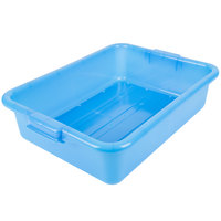 Vollrath 1511-C04 Traex® Color-Mate Blue Perforated Drain Box - 20 inch x 15 inch x 5 inch