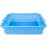Vollrath 1511-C04 Perforated Drain Box - Traex Color-Mate Blue 20 inch x 15 inch x 5 inch