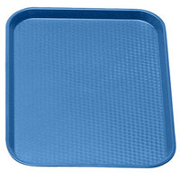 Blue Cambro 1014FF168 10 inch x 14 inch Customizable Fast Food Tray 24/Case