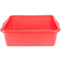 Vollrath 1527-C02 Food Storage Box - Traex Color-Mate Red 20 inch x 15 inch x 7 inch