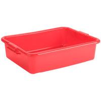 Vollrath 1521-C02 Traex® Color-Mate Red Food Storage Box - 20 inch x 15 inch x 5 inch
