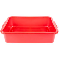 Vollrath 1521-C02 Food Box - Traex Color-Mate Red 20 inch x 15 inch x 5 inch