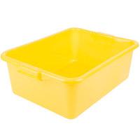 Vollrath 1527-C08 Traex® Color-Mate Yellow Food Storage Box - 20 inch x 15 inch x 7 inch