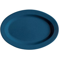 GET OP-215-TB Texas Blue 11 1/2 inch Oval Deep Platter - 24/Case