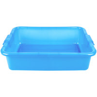 Vollrath 1521-C04 Traex Color-Mate Blue 20 inch x 15 inch x 5 inch Food Storage Box