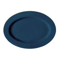 GET M-4010-TB Texas Blue 16 1/4 inch Oval Platter - 12/Case