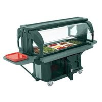 Cambro VBRUHD5519 Kentucky Green 5' Versa Food / Salad Food Bar with Storage and Heavy-Duty Casters