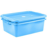 Vollrath 1507-C04 20 inch x 15 inch x 7 inch Traex® Color-Mate Blue Polypropylene Food Storage Combo Set with Standard Lid