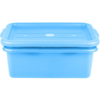 Vollrath 1507-C04 20 inch x 15 inch x 7 inch Blue Polypropylene Food Storage Combo Set with Standard Lid