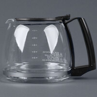Proctor Silex 88185Y Glass 12 Cup Replacement Carafe with Black Handle