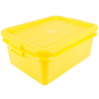 Vollrath 1505-C08 Traex® Color-Mate Yellow 20 inch x 15 inch x 7 inch Food Storage Drain Box Set with Recessed Lid