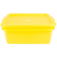 Vollrath 1505-C08 Traex Color-Mate Yellow 20 inch x 15 inch x 7 inch Food Storage Drain Box Set with Recessed Lid