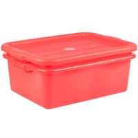 Vollrath 1507-C02 20 inch x 15 inch x 7 inch Traex® Color-Mate Red Polypropylene Food Storage Combo Set with Standard Lid
