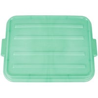 Vollrath 1500-C19 Snap-On Food Storage Box Lid - Traex Color-Mate Green 20 inch x 15 inch x 2 1/2 inch