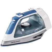 Hamilton Beach HIR750 Full Size Hospitality Iron, Steam & Dry with Retractable Cord - 120V, 1500W