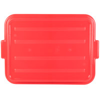 Vollrath 1500-C02 Snap-On Food Storage Box Lid - Traex Color-Mate Red 20 inch x 15 inch x 2 1/2 inch