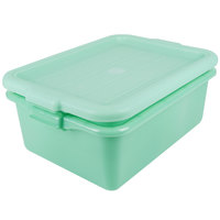 Vollrath 1505-C19 Traex® Color-Mate Green 20 inch x 15 inch x 7 inch Food Storage Drain Box Set with Recessed Lid