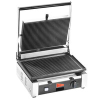 Cecilware TSG-1G Single 14 1/2 inch x 10 inch Panini Sandwich Grill with Grooved Surfaces - 120V