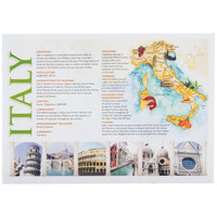 Hoffmaster PP112 10 inch x 14 inch Italia Paper Placemat - 1000/Case