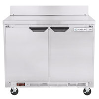 Beverage-Air WTR34HC 34 inch Two Door Shallow Depth Worktop Refrigerator