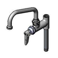 T&S B-0155-05-CR 6 inch Pre-Rinse Add On Nozzle with Quarter Turn Cerama Cartridge 4 inch Riser