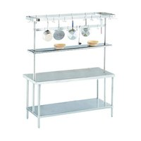 Advance Tabco SCT-144 Smart Fabrication 144 inch Middle Mount Stainless Steel Pot Rack / Utensil Rack