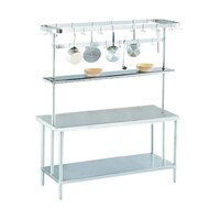 Advance Tabco SCT-120 Smart Fabrication 120 inch Middle Mount Stainless Steel Pot Rack / Utensil Rack